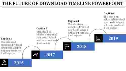 Download Timeline Powerpoint Template - Step model