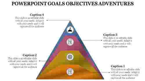 Traignle powerpoint Template Goals Objectives