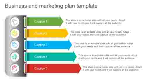 Business And Marketing Plan Template - Vertical Model