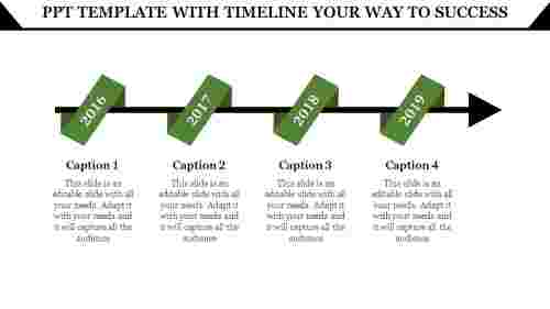Perfect Powerpoint Template With Timeline