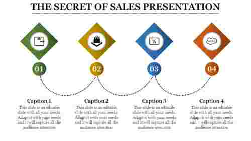 Sales Presentation Powerpoint - Diamond shape