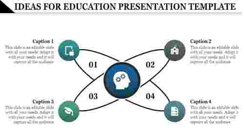 Education Presentation Template with cross design