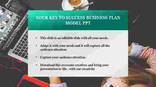 business plan model powerpoint with pictured background