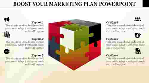Marketingplansamplepowerpoint-Cubepuzzlemodel