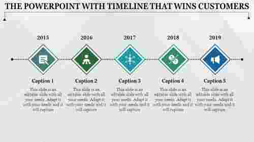 Structural powerpoint with timeline