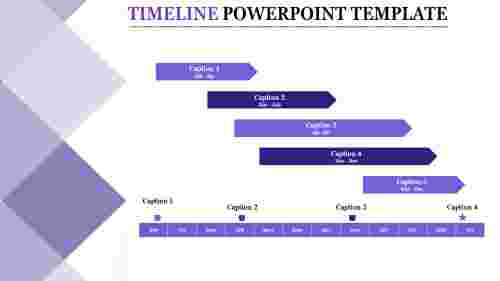 Powerpoint Template With Timeline - Gantt chart model