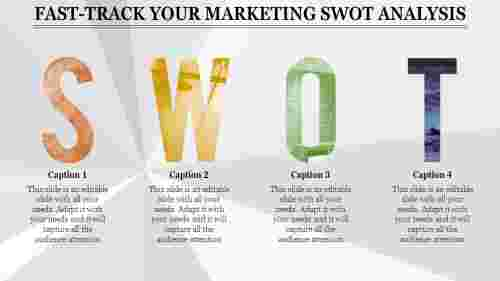 letter based marketing swot analysis template