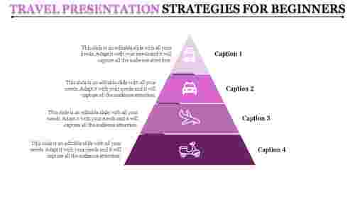 travel powerpoint presentation template in triangle model