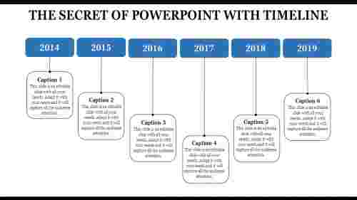 powerpoint template with timeline - best methology