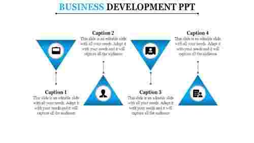 Triangle zig zag mode business development PowerPoint