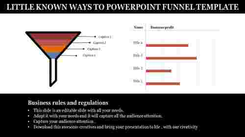 Powerpoint funnel template with bar chart