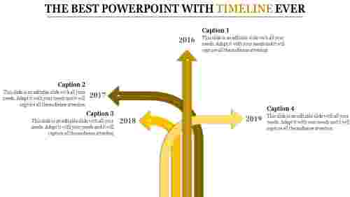 Arrows powerpoint with timeline