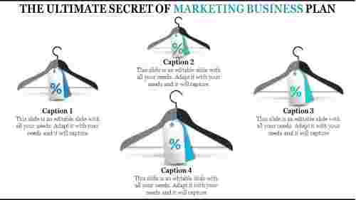 Marketing business plan template with hanger design