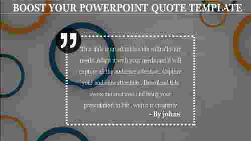 Creative powerpoint quote template