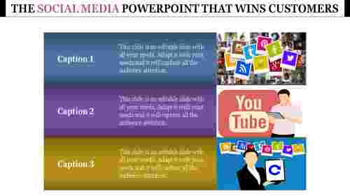Horizontal Social media powerpoint template