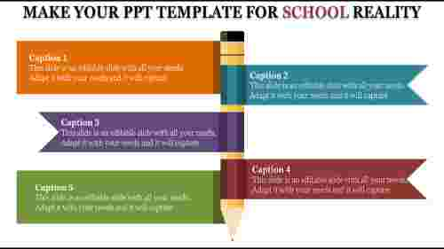 Ppt Template For School To Download (PPT) | SlideEgg