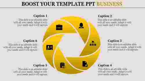 Template PPT Business - Circle Logo Model