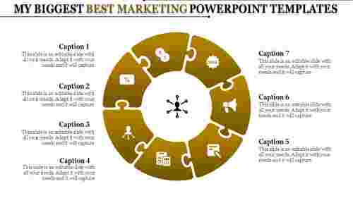 Process Of Best Marketing Powerpoint Templates
