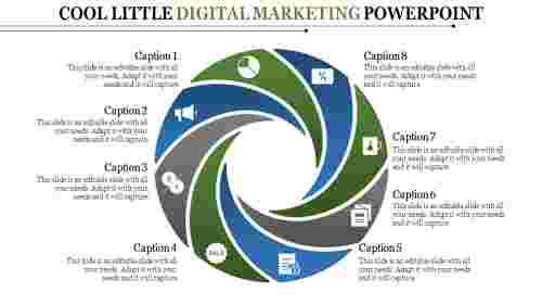 Digital Marketing Powerpoint - Loop process