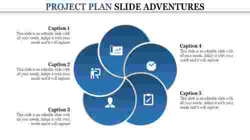 Project%20Plan%20Slide%20Template%20Presentation%20With%20Five%20Node