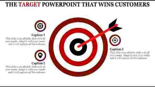Target template powerpoint  circular Design