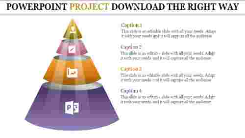 pyramid shapes powerpoint project download-four phase