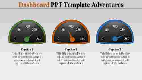 Simple best dashboard powerpoint template