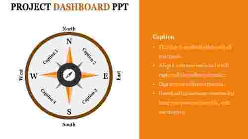 project dashboard PPT slide