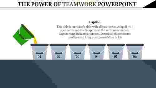 Teamwork powerpoint template Infographics