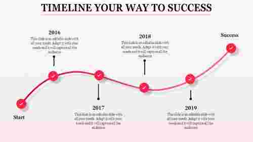 Powerpoint Template With Timeline curve model