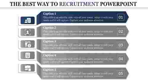 recruitment powerpoint presentation-THE BEST WAY TO RECRUITMENT POWERPOINT-blue