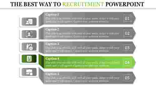 recruitment powerpoint presentation-THE BEST WAY TO RECRUITMENT POWERPOINT-green