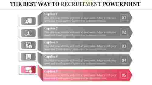 recruitment powerpoint presentation-THE BEST WAY TO RECRUITMENT POWERPOINT-red