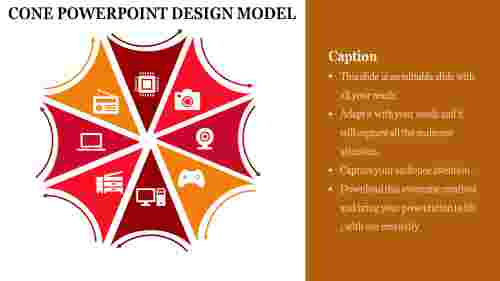 cone powerpoint design model