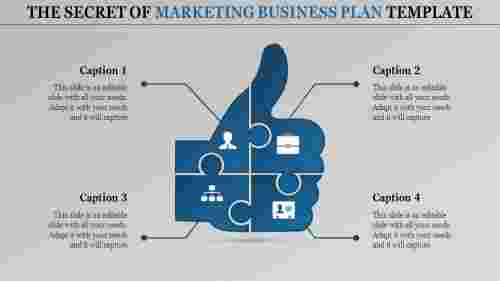 marketing business plan template-The Secret of MARKETING BUSINESS PLAN TEMPLATE-blue