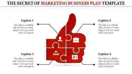 marketing business plan template-The Secret of MARKETING BUSINESS PLAN TEMPLATE-red