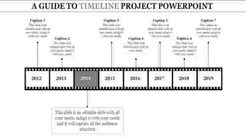 timeline project powerpoint - film reel model