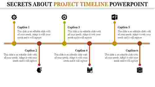 straped project timeline powerpoint