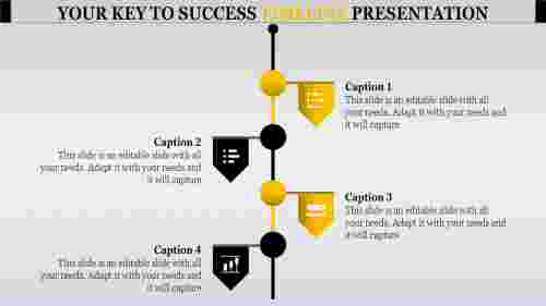 straped timeline presentation powerpoint