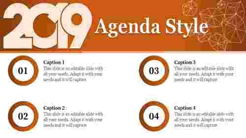 agenda style PPT design