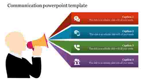 Communication PowerPoint template-Announcement designs
