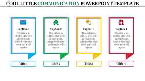 Four levels communication powerpoint template