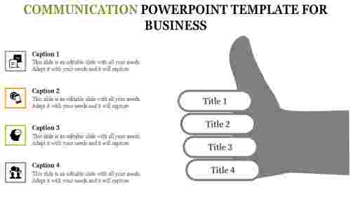Communication powerpoint template-Four levels