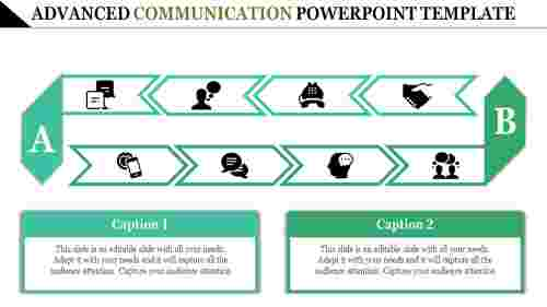 Arrows communication powerpoint template