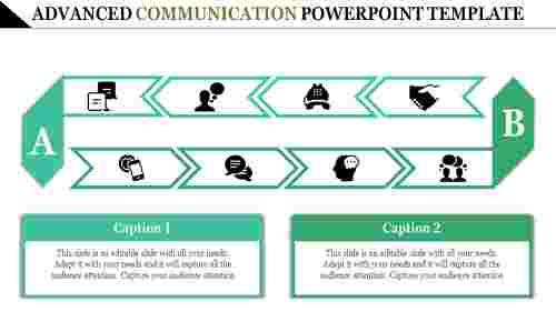 Arrowscommunicationpowerpointtemplate