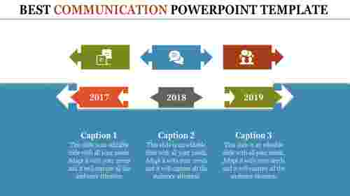 Communication powerpoint template-Arrow Designs