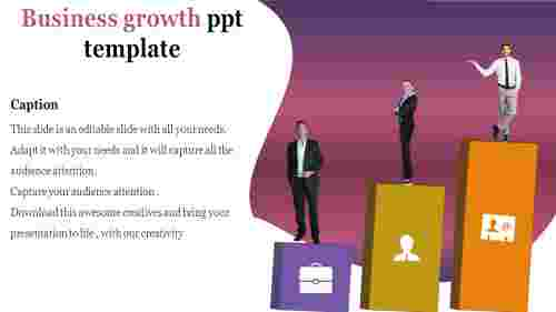 Business growth ppt in steps design