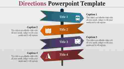 Direction ppt-Directions powerpoint template