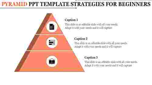 Pyramid PowerPoint Template - Three Stages