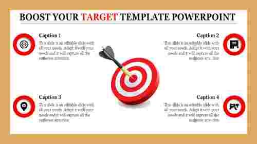 3D Target template powerpoint Design